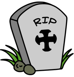 Halloween rip tombstone vector