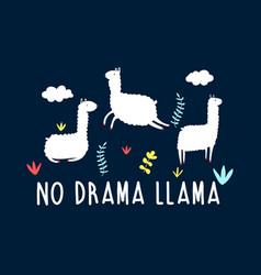 hand drawing llama vector image