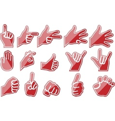 HAND RED vector image