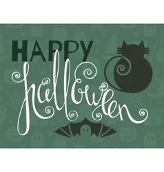 Happy halloween vintage poster vector