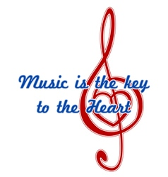 Heart in a musical clef vector image vector image