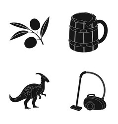 History alcohol and or web icon in black style vector