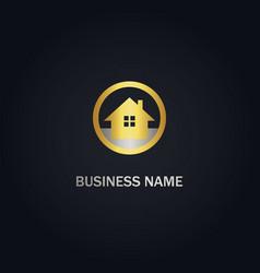 Home realty gold logo vector
