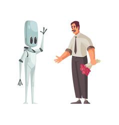 Humanoid cartoon vector