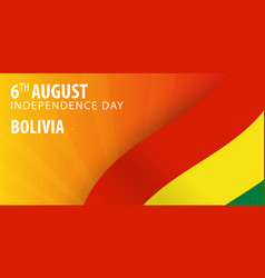 independence day of bolivia flag and patriotic vector image