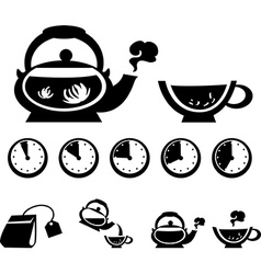 Instructions for making tea vector image