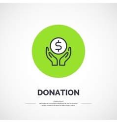 Isolated icon of donations vector image