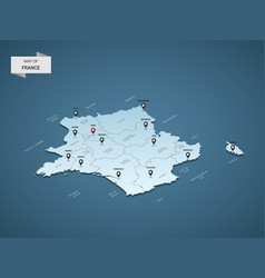 Isometric 3d france map concept vector