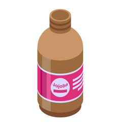Jojoba shampoo icon isometric style vector