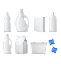 laundry products mockup realistic clean white vector image