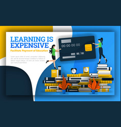Learning is expensive students holding credit vector