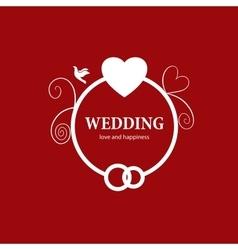 Logo wedding vector