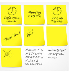 messages on sticky notes vector image