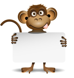 Monkey with a white background vector