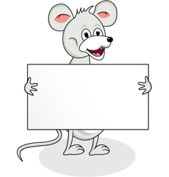 mouse with blank sign vector image