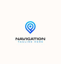 navigation monogram modern concept logo template vector image