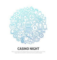 night casino circle concept vector image