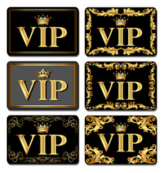 On the design of vip business cards gold with vector