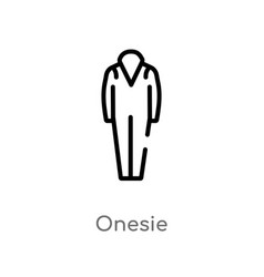 Outline onesie icon isolated black simple line vector