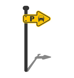 Parking sing direction indicator vector