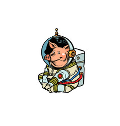 pig astronaut character chinese new year the vector image