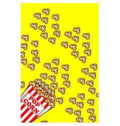 Popcorn bucket box set vector