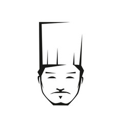 Professional chef outline vector
