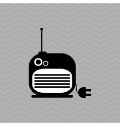radio icons design vector image