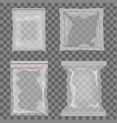 realistic transparent empty plastic food vector image