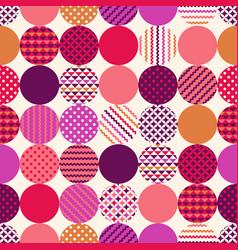 seamless circle modern textured hipster pattern vector image
