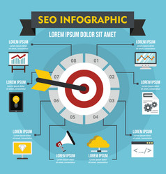 Seo infographic concept flat style vector