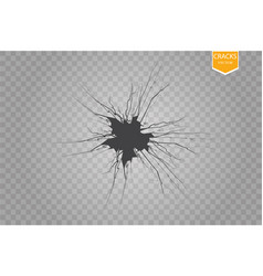 Set cracks isolated on transparent vector