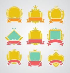 Set of flat badges and ribbons vector
