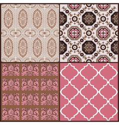 Set of Vintage Tiles Backgrounds vector