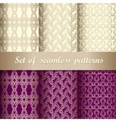 set seamless pattern 5 vector image