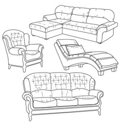 Set with hand drawn doodles vector