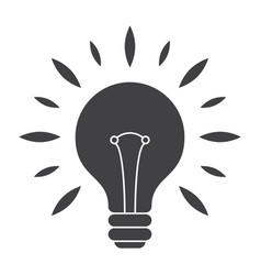 Silhouette light bulb vector