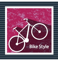 Simple flat images bike on the background vector