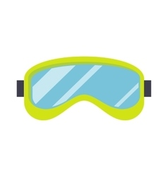 Ski Mask Isolated on White Snowboard Glasses vector image