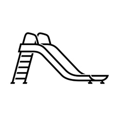 Slide playground for children icon vector
