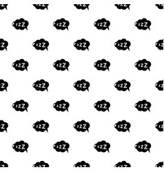 Snoring pattern seamless vector