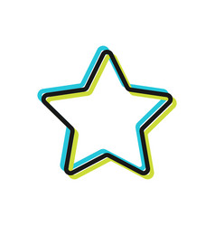 Star flat icon internet and design vector