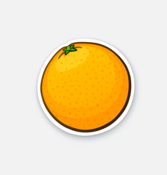 Sticker whole orange vector