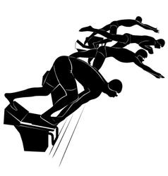 swimmer athlete vector image