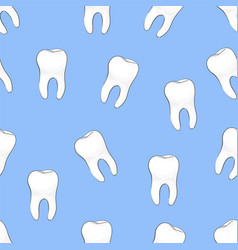 teeth seamless vector image