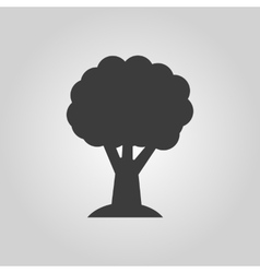 The tree icon Nature symbol Flat vector image