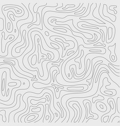 topographic contour lines map pattern black and vector image