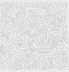 topographic contour lines map pattern black vector image