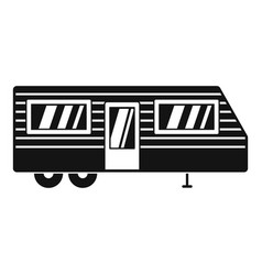 Trailer house icon simple style vector