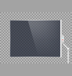 transparent futuristic glass screen vector image
